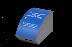 Ticket Dispenser 11082 with custom adhesive label